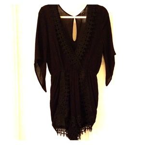 Ambience Crochet Lace Romper